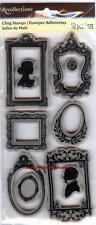 Rubber Cling Stamps CAMEO FRAMES ORNATE FLOURISHES