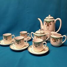 Japanese Meito China White, Gold and Green Tea/Coffee Set