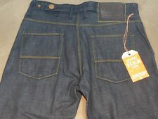 124 MENS SUPERDRY 'GAS' STRAIGHT DARK BLUE JEANS SZE 29 NWT, $150 RRP.