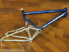 "VINTAGE SCHWINN S-10 FULL SUSPENSION 26"" MOUNTAIN BIKE  FRAME ROCK SHOX DELUXE"