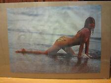 BO DEREK Hot girl ORIGINAL man cave car garage Vintage Poster 1980  386