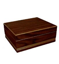 Almond 50 Cigar Humidor Case w/ Humidifier / Hygrometer