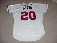 Nick Green Game Worn Signed Jersey Atlanta Braves MLB