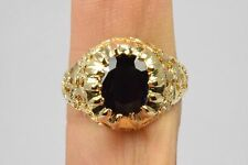 Luxury 18k Solid Gold Sapphire & Diamond 3.12 ct One of A Kind Custom Ring