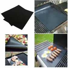 2pcs Reusable Non-stick Surface BBQ Grill Mat Baking Easy Clean Grilling F7S