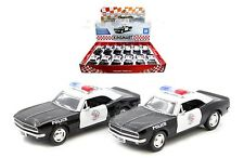 Pack of 12 Police 1967 Chevy Camaro Diecast Car 1:37 Kinsmart 5 inch