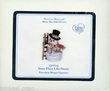 2013 Precious Moments Ornament - Snow Place Like Home - 131024 - NEW