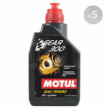 Motul Gear 300 75W-90 Racing gearbox and diff oil ester synthetic 5 x 1 Litre 5L