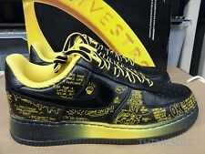 NIKE AIR FORCE 1 PREMIUM LIVESTRONG 378367-001 BUSY P SIZE 10 CARTOON AF1 RETRO