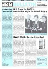 IRB BULLETIN Issue 5 Jan 2003 RUGBY MAGAZINE HONG KONG IRB SEVENS RUSSIA