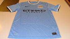 2013-14 Manchester City FC Soccer Home Jersey Short Sleeves Premier League L