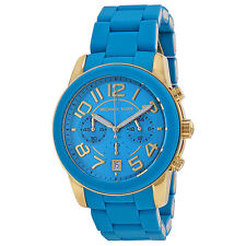 Michael Kors Mercer Chronograph Turquoise Silicone Ladies Watch MK5891
