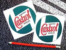CASTROL WAKEFIELD VINTAGE CLASSIC CAR STICKERS MOTORCYCLE / CAR F1 LE MANS OIL
