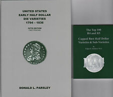US Early Half Dollar Die Var 1794-1836 5thEd + Top 100 R-4 & R-5 RAG 2 NEW Books