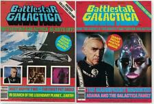 Lot of 2 Battlestar Galactica Official Poster Magazines #1 and #4 (1978/1979)