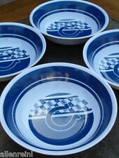 "Indianapolis Colts -Set of 4 - 7"" IndoorOutdoor Dinner Bowls-Colorful & Durable"