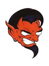 DEVILS HEAD HOTROD Kulture MOTORCYCLE ROLLER DERBY STICKER/VINYL CAR DECAL