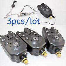A0301 SET 3 BISS-ALARME AKUSTISCH DIGITAL CARPFISHING 3 ANPASSUNGEN+LICHT NACHT