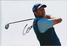 Retief GOOSEN SIGNED Autograph 12x8 Photo AFTAL COA German Masters Winner GOLF