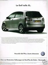 Publicité advertising 2005 VW Volkswagen Golf Plus