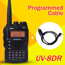 UV-8DR Tri-Band 136-174/240-260/400-520mhz Walkie Talkie + One Programming Cable