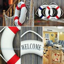 "9.7""Red Welcome Nautical Decor Lifering Lifebuoy Home Wall Hanging Door Decor"