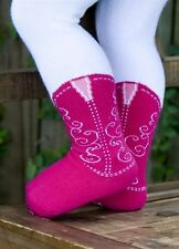 ITTY BITTY FUCHSIA COWBOY BOOT TIGHTS BOOTZIES FOR YOUR COWGIRL SZ 0-6 MOS