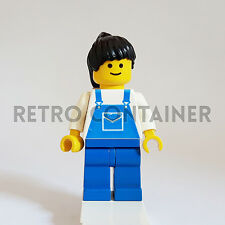 LEGO Minifigures - 1x ovr028 - Girl - Overalls Classic Omino Minifig 9616 4291