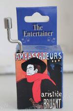 Mechanische Spieluhr, Mini - Drehorgel, The Entertainer, Jugendstil - Verpackung
