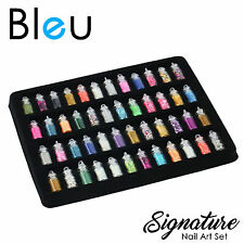 Nail Art Set Charms 48 Bottles Beads Glitter Rhinestones Make up Girls Gift XMAS