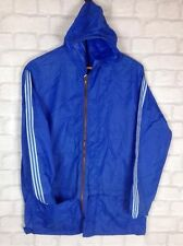 VINTAGE RETRO 90'S BLUE RAINCOAT COAT JACKET ATHLETIC FESTIVAL S/M