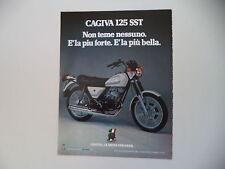 advertising Pubblicità 1981 MOTO CAGIVA SST 125