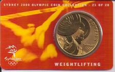 2000 $5 RAM UNC Coin Sydney Olympic coin coll'n- 21 of 28 (Weightlifting)+ cover