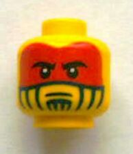 LEGO - Minifig, Head Face Paint with Red War Paint Pattern - Yellow