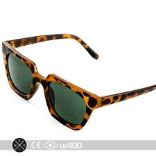 Tortoise Giraffe Women's Oversize Bold Thick Frame Cat Eye Sunglasses S178