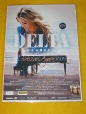 Delta Goodrem - 2009 Australian Tour -  Believe Again - Laminated Promo Poster
