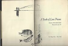 A book of love poems edited william cole art lars bo viking press 1966 hc/no dj