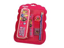 stationery kit x2 , pencil case, ruler, stamp, rubber and two pencils fast shipp
