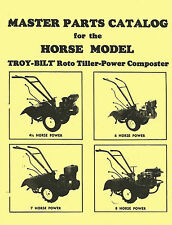 Troy Bilt Roto Tiller Horse Composter Master Parts Manual/Catalog 88'
