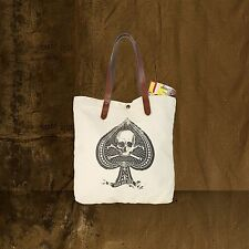 Denim & Supply Ralph Lauren Beige Ace Skull Shoulder Bag