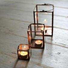 1 Small Antique Copper Tea Light Lantern, Tiny Candle T Light Holder Bindi Nkuku