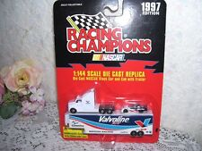 RACING CHAMPIONS NASCAR STOCK CAR & TRACTOR TRAILER MICRO MACHINE 1997 MIP