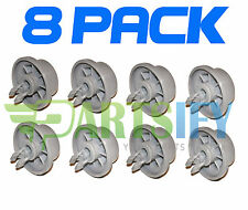 8 PACK NEW 165314 DISHWASHER LOWER RACK ROLLER AND CLIP FOR BOSCH, THERMADOR