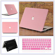 """2in1 Wooden Leather Coated Matte Case+KB Cover  for MacBook Air 11"""" Pro 13"""" 15"""""""