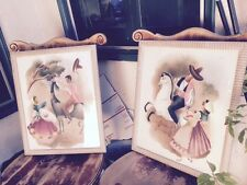 Pr Vintage Peters Airbrushed Paintings Mexican Spanish Theme Horses Snra Senoir