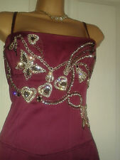 Karen Millen BNWT Pink Corset/Wiggle Dress 12 with diamante butterfly detail