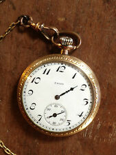 ANTIQUE ELGIN POCKET WATCH WITH CHAIN 15 JEWELS