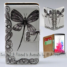 Wallet Phone Case Flip Cover for LG G3 - Dragonfly Vector HQ Print