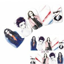 Tattoo Nail Art Geisha Aufkleber Manga Japan Anime Water Decall Neu!