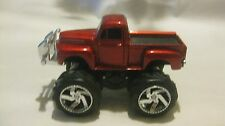 Old Style Ford Pick-Up Monster Truck In A Maroon 132 Scale Diecast    NEW dc1203